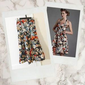 Hitherto ▪ Anthropologie Floral Halter Dress